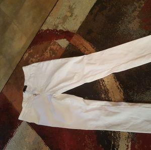 White stretch jean type pants